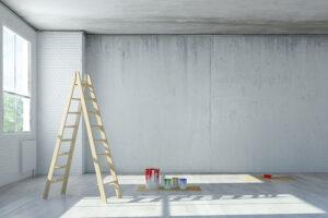 Renovierungspotenzial von Wänden und Decken