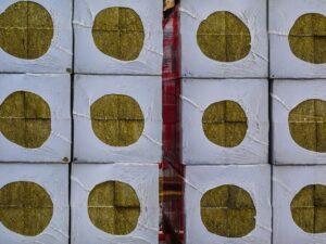 Trockenbauwand aus Rigipsplatten